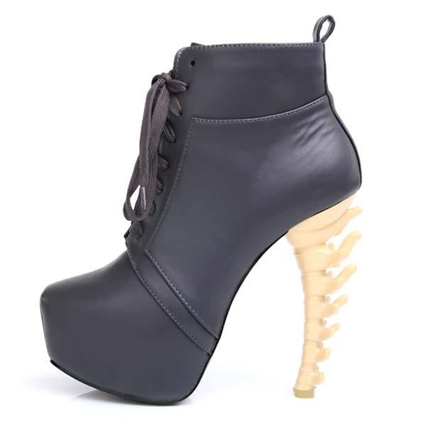 Sexy Special Unique Bone Shoes Womens High Bone Heels Platform ...