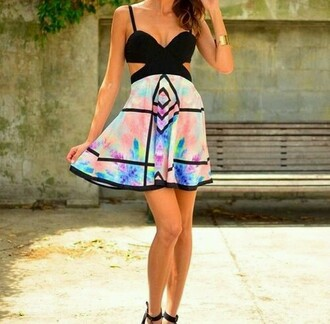dress tie dye dress
