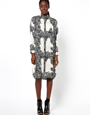 ASOS | ASOS Shirt Dress With Clean Paisley Print at ASOS