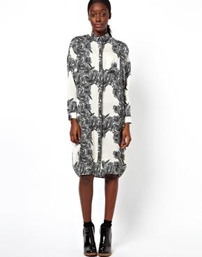 ASOS | ASOS Shirt Dress With Clean Paisley Print at ASOS