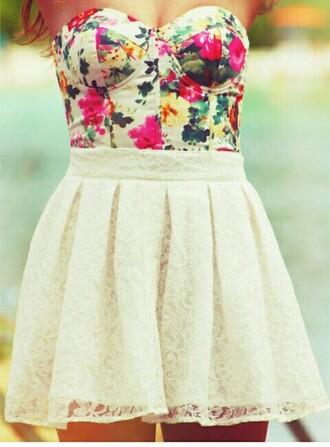 dress floral bustier bustier dress