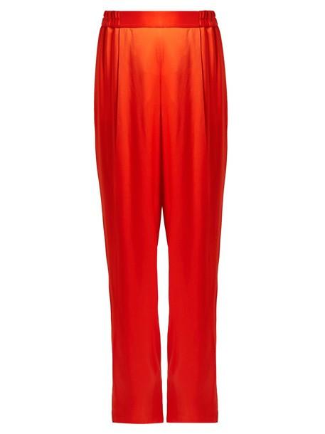 Stella McCartney satin red pants