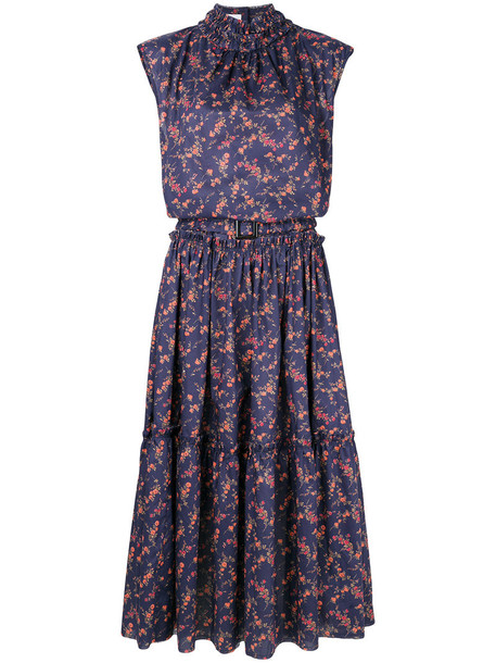 Delada dress maxi dress floral maxi dress maxi sleeveless women floral cotton blue