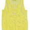 Yellow crocheted lace vest - choies.com