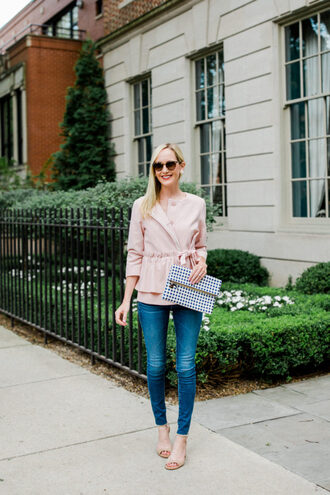 kelly in the city - a preppy chicago life style and fashion blog blogger jacket leggings jeans bag shoes booties clutch skinny jeans