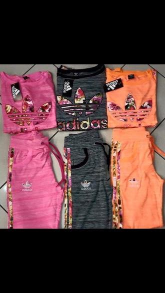 pants adidas flowers sportswear