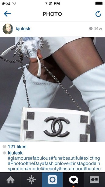 bag white bag clutch hipster