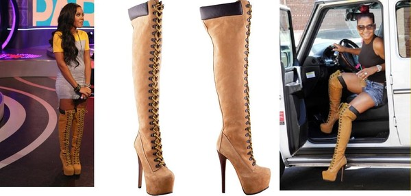 shoes zigi ziginy beyonce Angela Simmons sense christina milian boots knee high boots dress