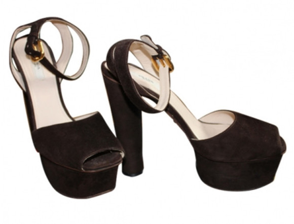 prada shoes sandals high heels black heels