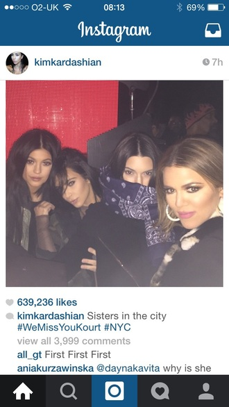 scarf kendall jenner