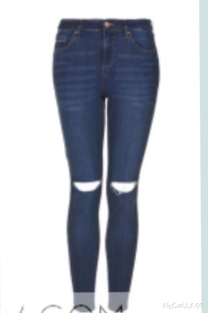 jeans jeans with knee rips