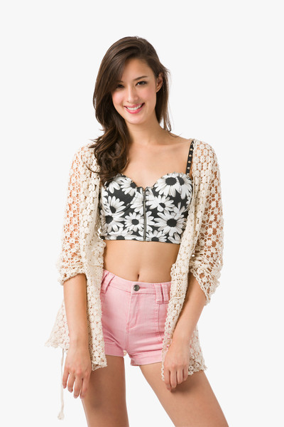 I feel daisy crochet cardigan