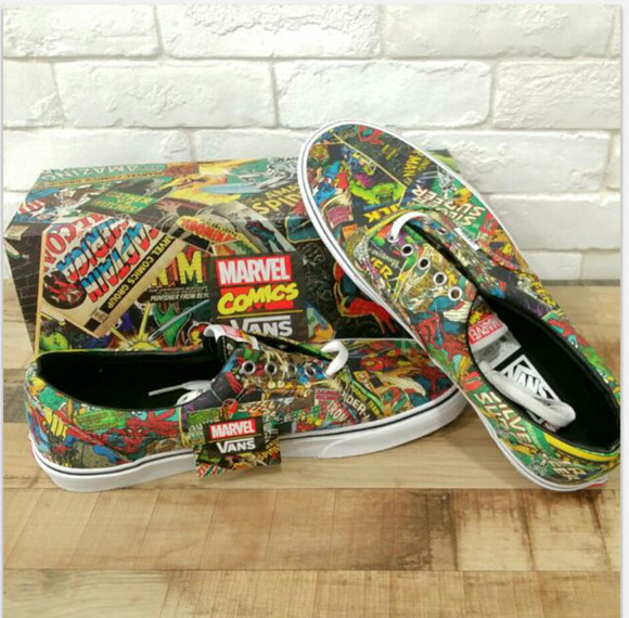 shoes vans sneakers marvel comics skater