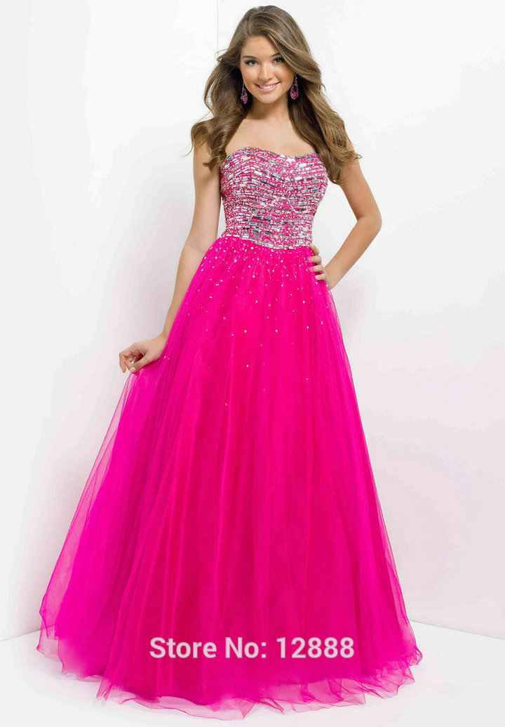 Model 5305 Coral Vivid Cerise Customize Prom Dress 2014 Strapless With Silver Beading Party Gowns-in Prom Dresses from Apparel & Accessories on Aliexpress.com | Alibaba Group