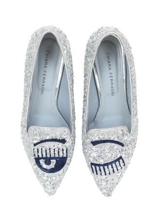 eyes loafers silver shoes