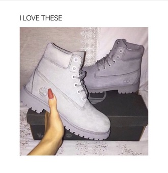 shoes timberlands boots grey