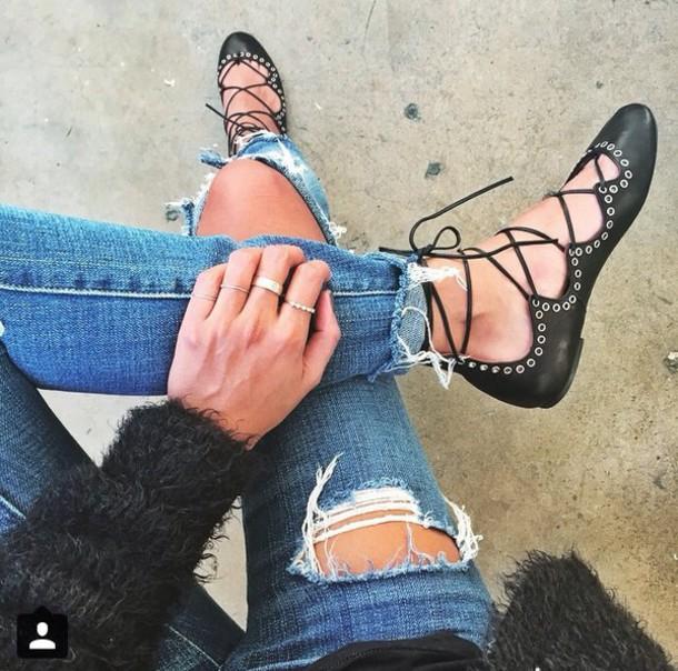 shoes black sandles