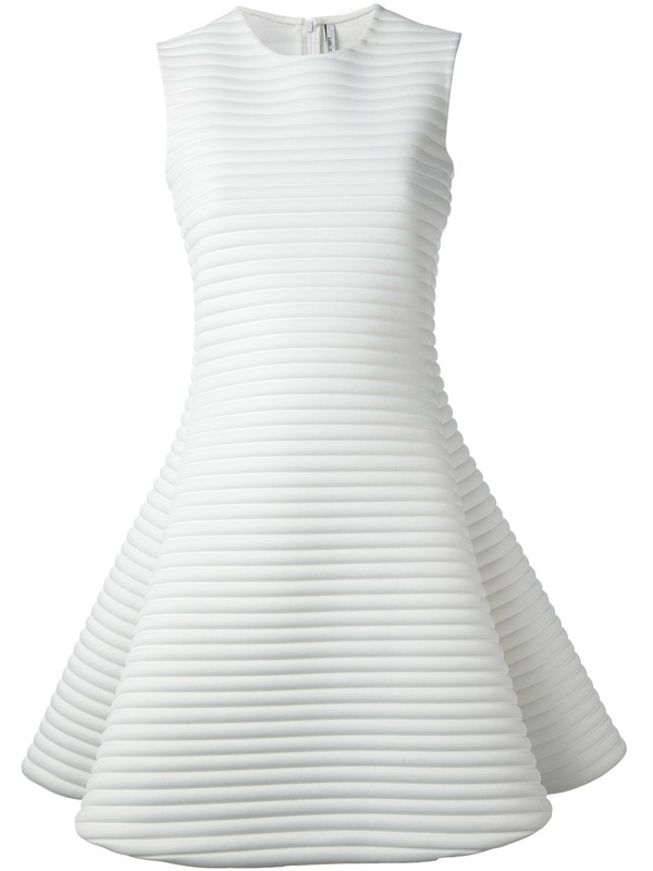 dress neil barrett flare white dress