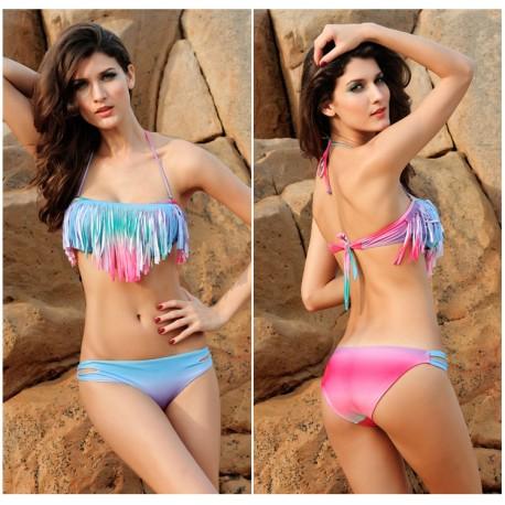 Rainbow Tassel Bikini sexy beach clothes lml5005C - lol-malls - Trustful Online Shopping for Women Dresses