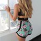 Nova hibiscus high waisted shorts $38.00 from paper hearts on storenvy