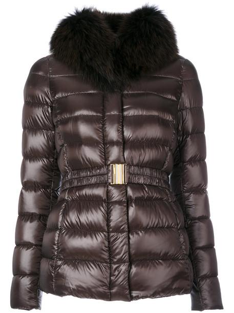 Herno jacket fur fox women cotton brown