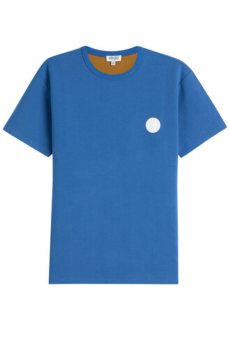 t-shirt shirt cotton t-shirt cotton blue top
