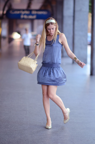 blue dress chiara the blonde salad