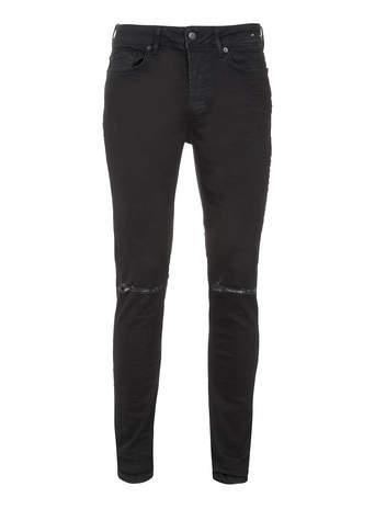 Black Ripped Stretch Skinny Jeans- TOPMAN