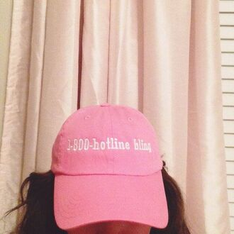 hat hotline bling light pink