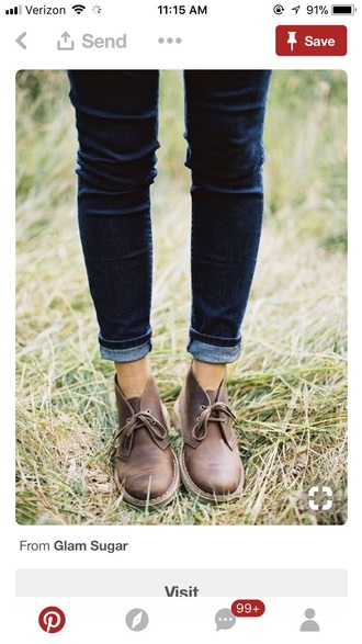 shoes leather brown leather boots