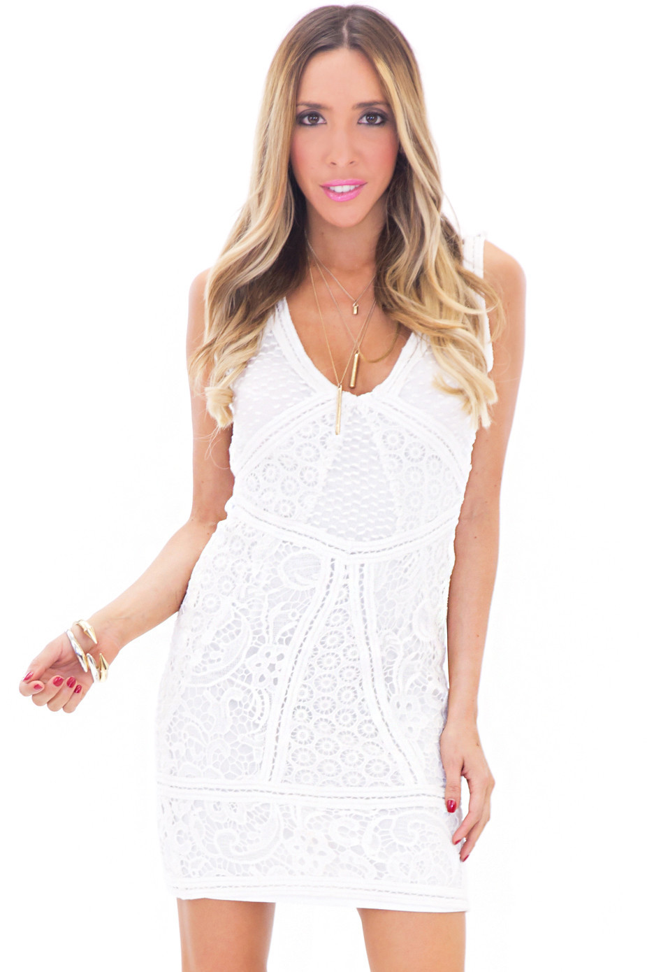 HELMUT MULTI LACE CONTRAST DRESS | Haute & Rebellious