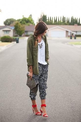 blouse khaki cool