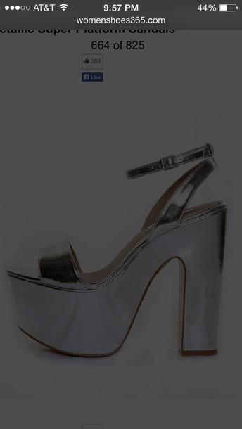 shoes platform shoes matellic