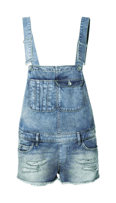 Vintage denim jumper shorts