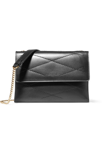 mini quilted bag shoulder bag leather black