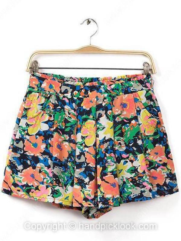 flowered shorts bottom