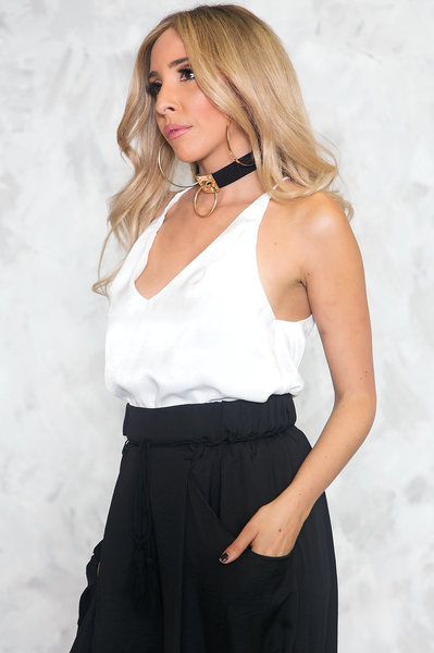 Emma Satin Cami Top - White – Haute & Rebellious