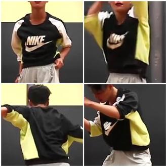 sweater nike sweater green sweater black sweater white sweater black shirt lime green shirt white shirt training sportswear nike sportswear