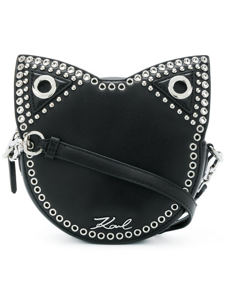 karl lagerfeld women bag crossbody bag leather black