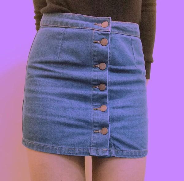 buttoned denim skirt forever 21 canada