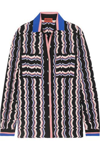 shirt knit shirt knit wool pink crochet top