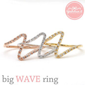 jewels,jewelry,ring,wave ring,wave,stacking,stacking ring,crystal,crystals ring