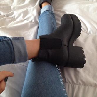 shoes black platform shoes grunge