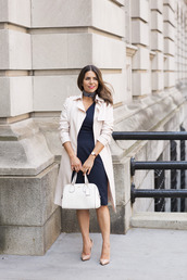 the corporate catwalk,blogger,dress,coat,bag,scarf,jewels