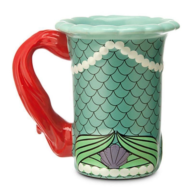 Disney Parks The Little Mermaid Princess Ariel Dress Ceramic Coffee Mug NEW