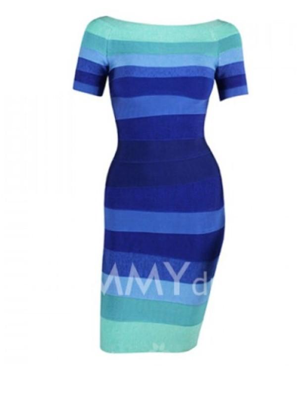 dress blue dress bandage dress