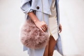coat,bag,fur,gloves,furry bag,fluffy,pink fluffy,pink dress,gold chain necklace,gold sequins,chain bag,dusty pink