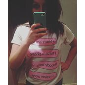 t-shirt,yeah bunny,white,alone,forever alone,phone,pink,roses,foldedsleevs,roll-up,cotton