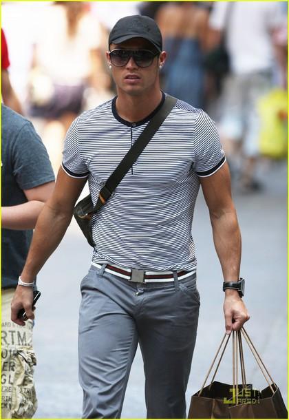 T-shirt: cristiano ronaldo, grey, menswear, style, class ...