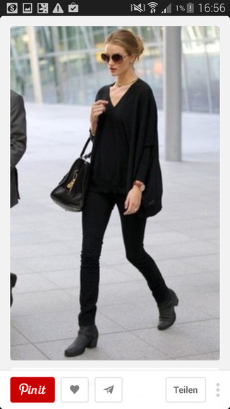 rosie huntington-whiteley bag sunglasses celebrity style watch streetstyle